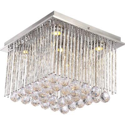 House Additions Milady 5 Light Flush Ceiling Light