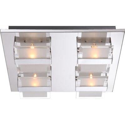 House Additions 4 Light Flush Ceiling Light