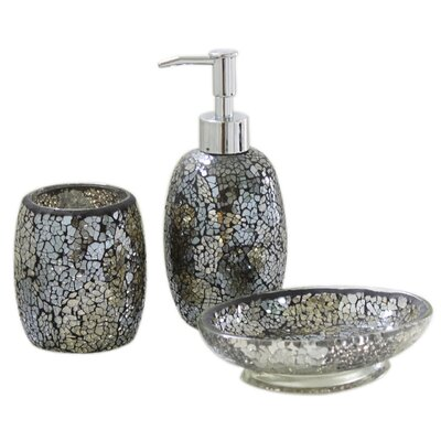 House Additions Mosaic Bathroom Accessory Set