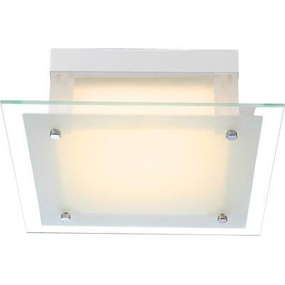 House Additions Quadro I 1 Light Flush Ceiling Light