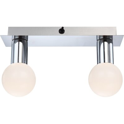 House Additions Solig 2 Light Semi-Flush Ceiling Light