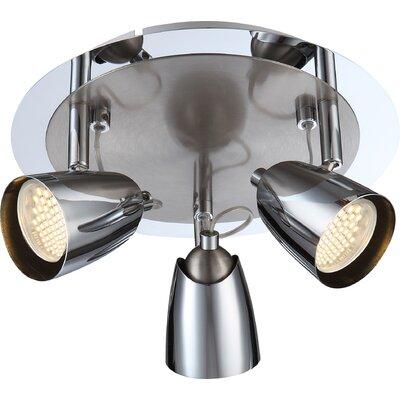 House Additions Tamas 3 Light Semi-Flush Ceiling Light