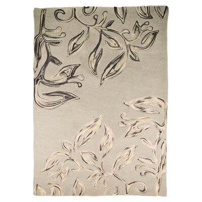 House Additions Floral Hand-Tufted Beige Area Rug