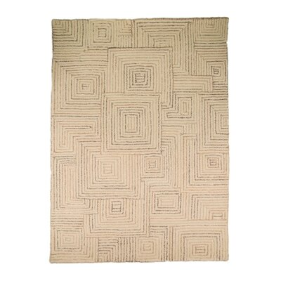 House Additions Textures Hand-Tufted Brown Area Rug