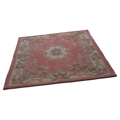 House Additions Valerio Aubusson Hand-Tufted Pink Area Rug