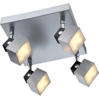 House Additions Vika 4 Light Semi-Flush Ceiling Light