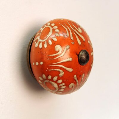 House Additions Mustard Painted Design Drawer Knob