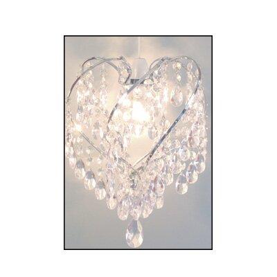 House Additions 24cm Heart Acrylic Novelty Pendant Shade