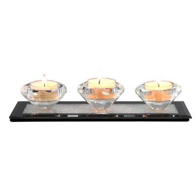 House Additions Moon Dust Glass Tea Light Holder
