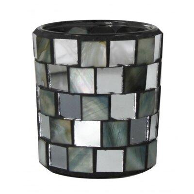 House Additions Morocco Glass Mosaic Tea Light Holder