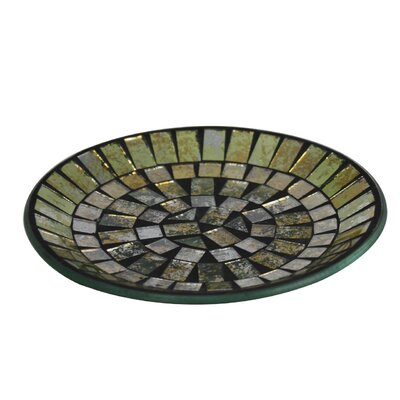 House Additions Morocco 15cm Glass Mosaic Plate