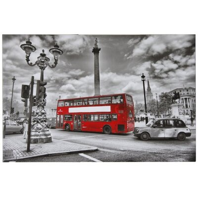 House Additions London City Scene Graphic Art on Canvas