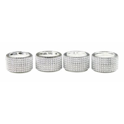 House Additions Diamante 4 Piece Tea Light Holders