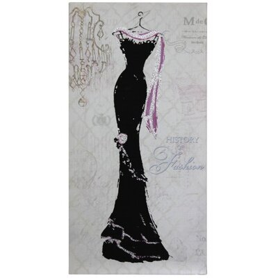 House Additions Evening Gown Graphic Art on Canvas