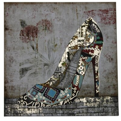 House Additions Shoe Graphic Art on Canvas