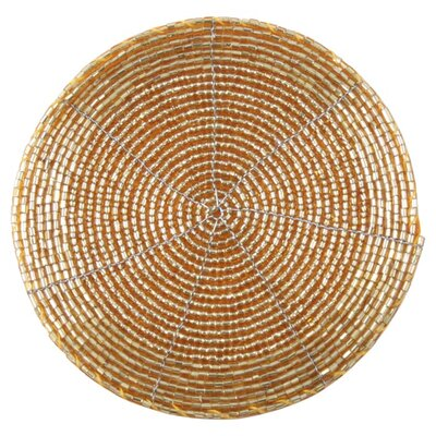 House Additions Golden Beaded Coaster