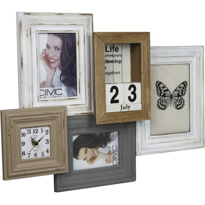 House Additions Collage with Clock Picture Frame