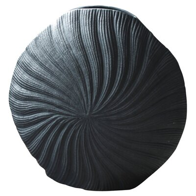 House Additions Midnight Clam Shell Vase