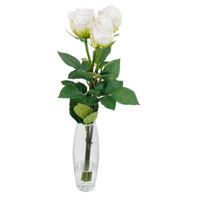 House Additions Artificial Rose in Vase