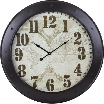 House Additions Oversized 60.5cm Map Wall Clock