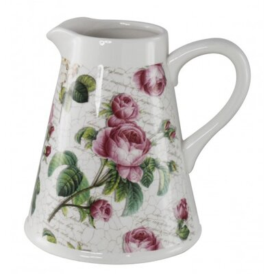 House Additions Floral Print Pitcher