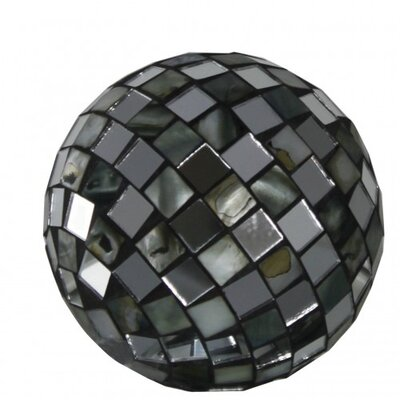 House Additions Decorative Mirror and Shell Morocco Mosaic Ball