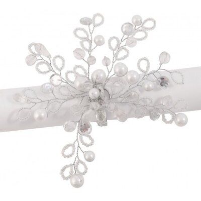 House Additions Beaded Pearl Napkin Ring