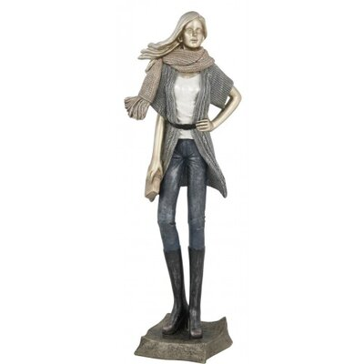 House Additions Lady with Scarf Figurine