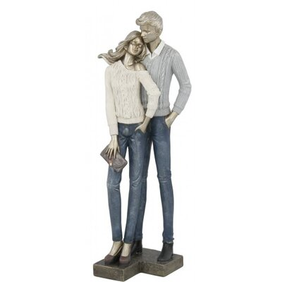 House Additions Couple with Sweaters Figurine