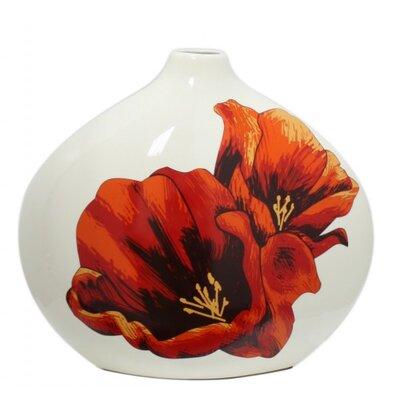 House Additions Wild Poppy Vase