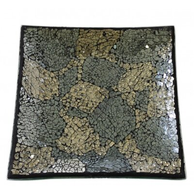 House Additions Mosaic Square Glass Plate