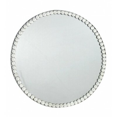 House Additions Diamante Trim Glass Mirror Candle Plate