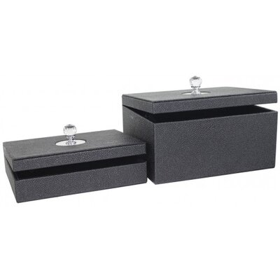 House Additions 2 Piece Faux Stingray Leather Box
