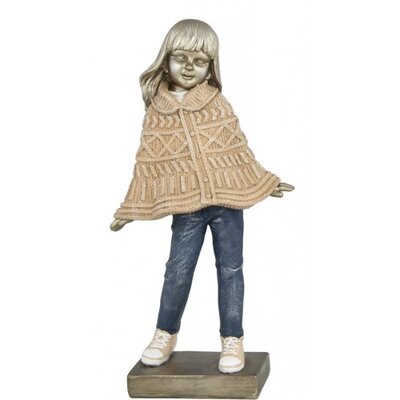 House Additions Girl with Poncho Figurine