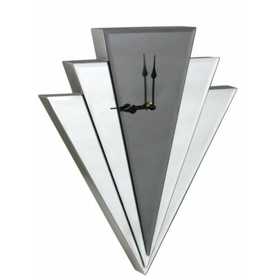 House Additions Art Deco Mirror Wall Clock