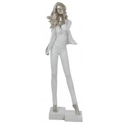 House Additions Standing Lady with Jacket Figurine