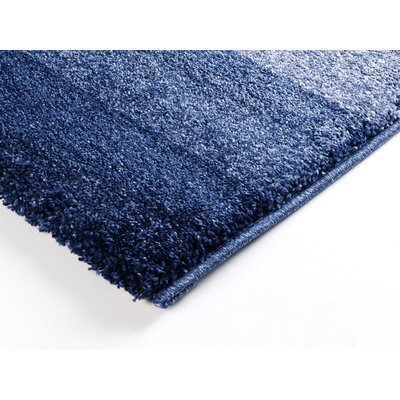 House Additions Hand-Woven Blue Area Rug