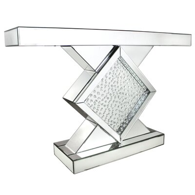 House Additions Winston Mirror Diamond Console Table