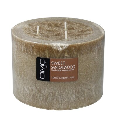 House Additions Sweet Sandalwood Pillar Candle