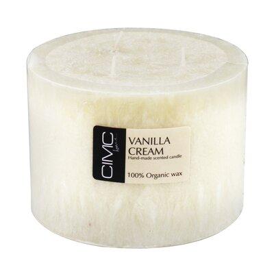 House Additions Vanilla Cream Pillar Candle