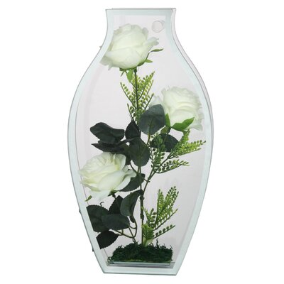 House Additions Vase Shape Glass Case Wall Decor