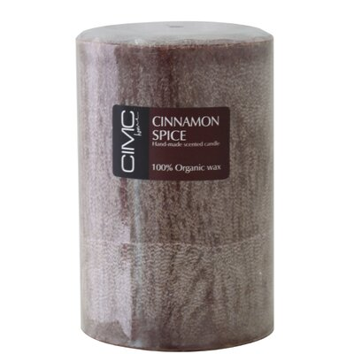 House Additions Cinnamon Spice Pillar Candle