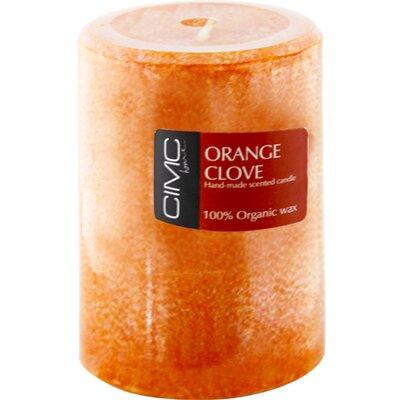 House Additions Orange Clove Pillar Candle