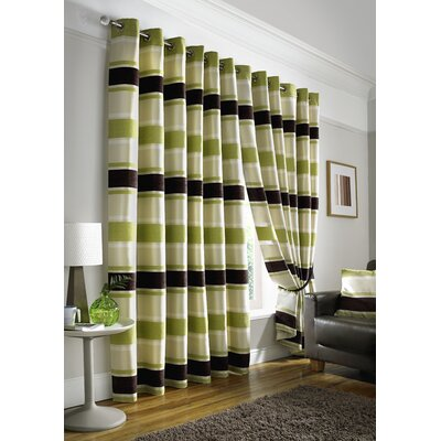 House Additions Philip Lined Eyelet Curtain Panel