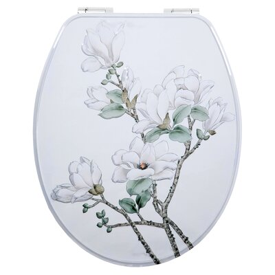 House Additions Metal Flowers Elongated Toilet Seat