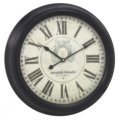House Additions 47cm Vintage Round Wall Clock
