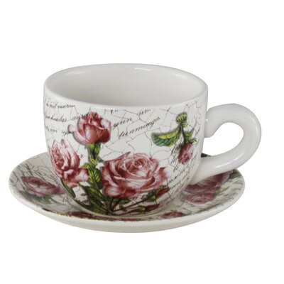 House Additions 17cm Floral Cup and Saucer