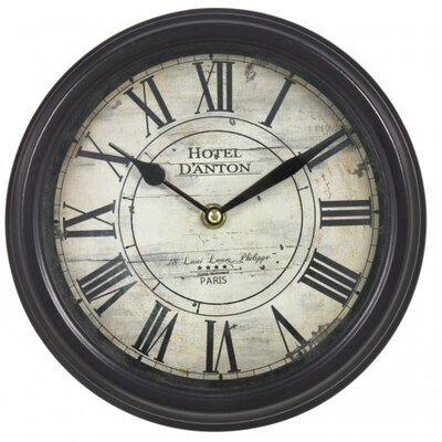 House Additions 23.5cm Hotel D'Anton Rustic Round Wall Clock