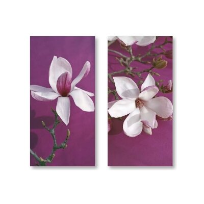 House Additions Imp Magnolia 2 Piece Photographic Print Wrapped on Canvas Set