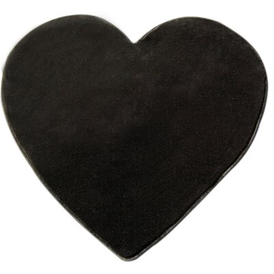 House Additions Heart Black Area Rug